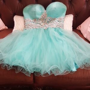 Turquoise prom dress